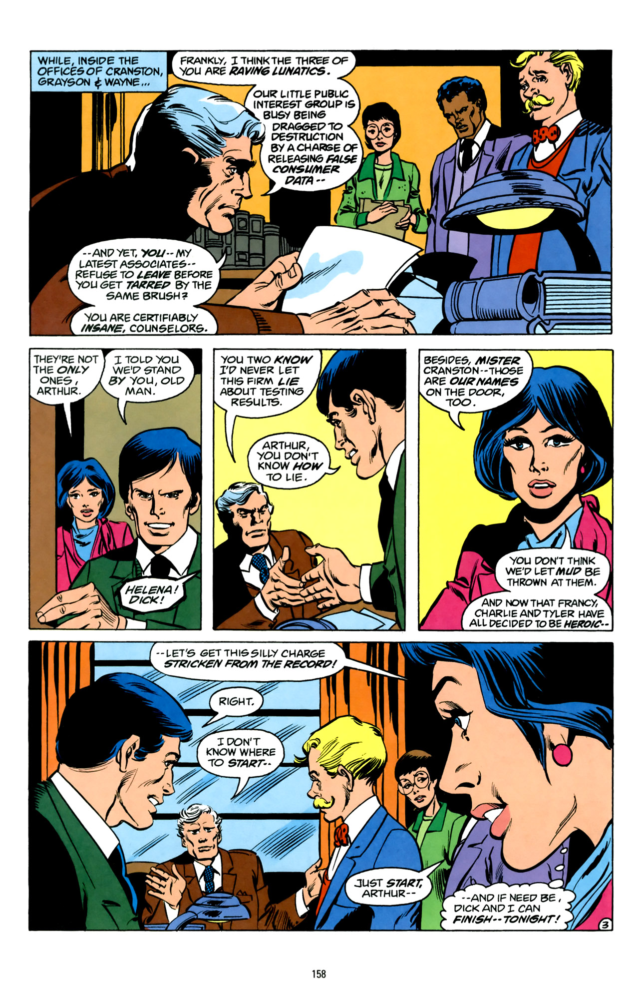 Part of what makes classic Helena Wayne such a compelling character is her status as a superhero and a working lawyer.