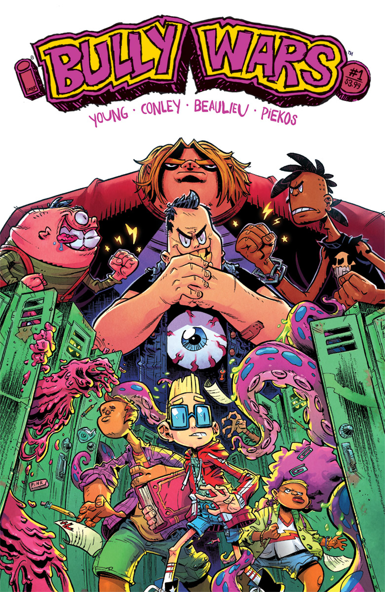 For  Bully Wars , Skottie Young teams with Aaron Conley, a Skottie Young-esque artist.