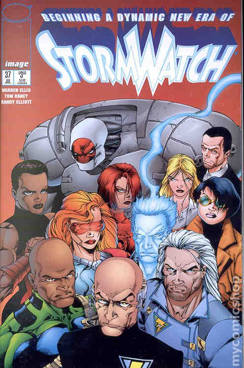 StormWatch #37  brought Warren Ellis into the WildStorm Universe.