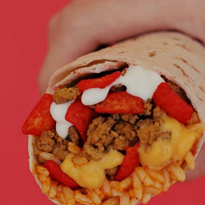 The Beefy Crunch Burrito in all its...glory?