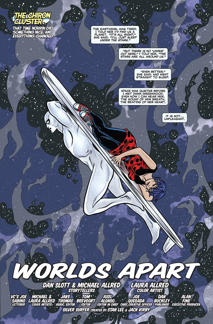 Dan Slott and Mike Allred's  Silver Surfer  is a touching and epic cosmic love story.