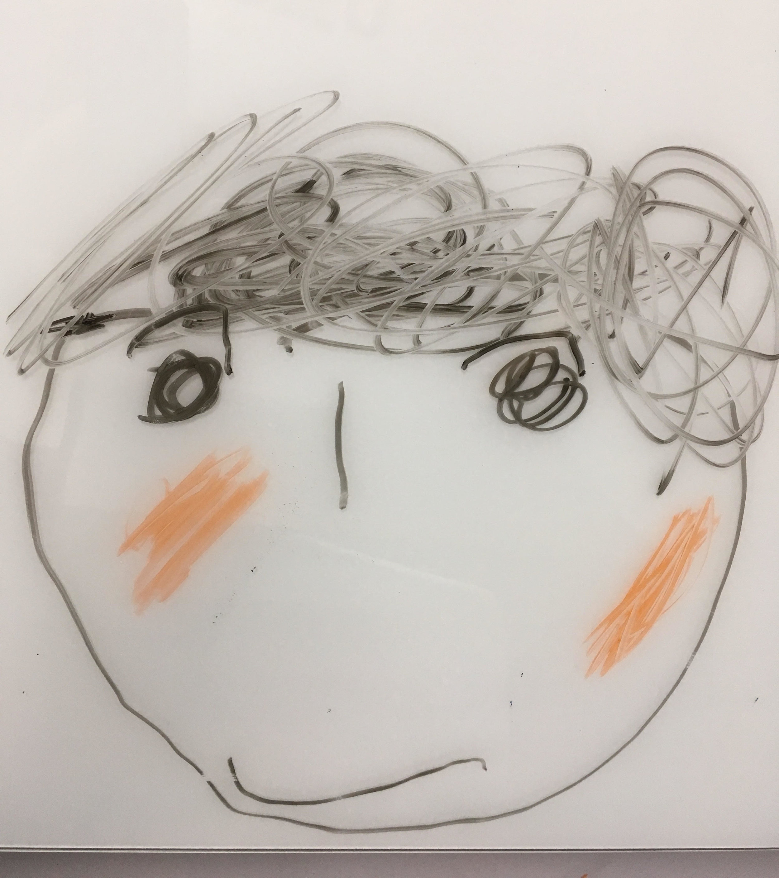 David Moses LeNoir, as drawn by his 3-year-old daughter.