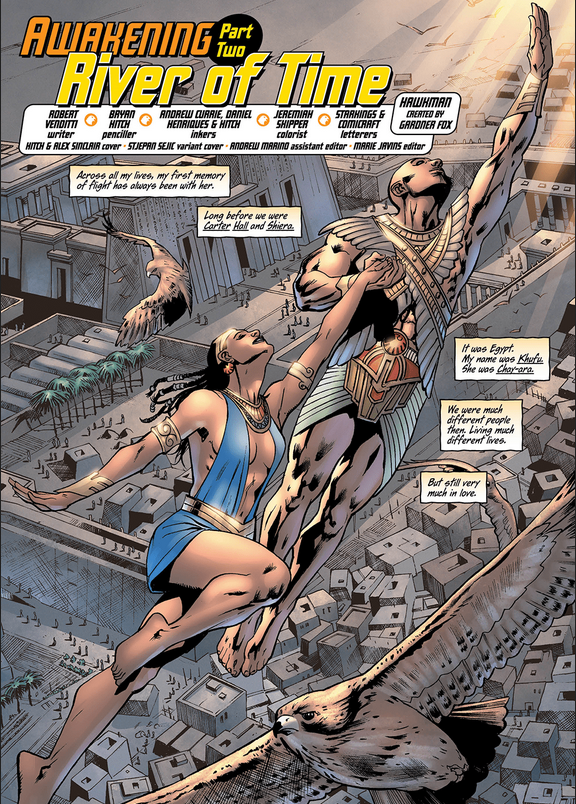 In  Hawkman #2 , the journal entry narrative device continues, but who is Carter Hall writing to?