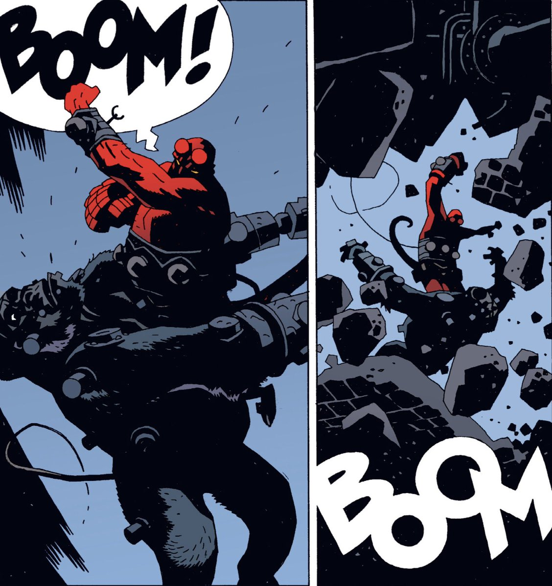 Here's hoping Hellboy will find himself punching his way through some new anthology stories in 2019.