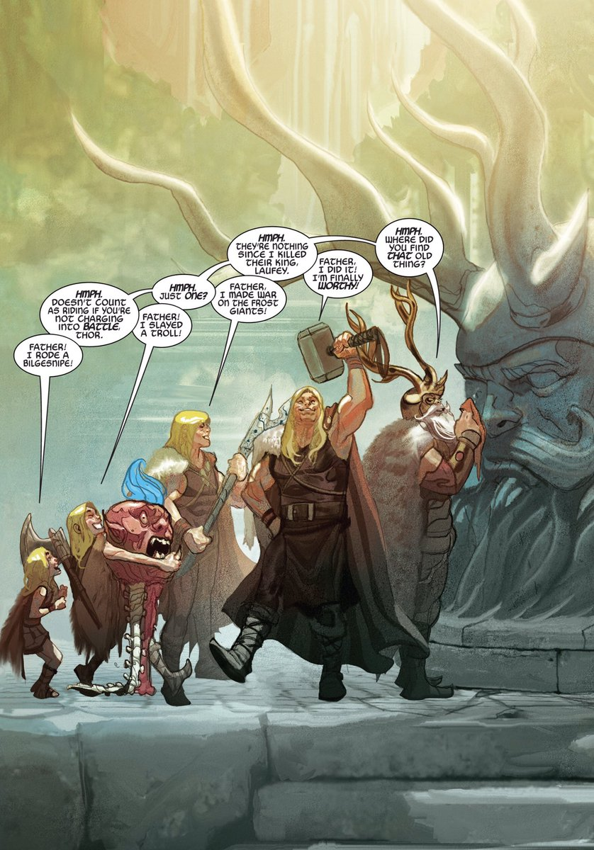 A brief, one-page encapsulation of Thor-Odin's complicated relationship over time.