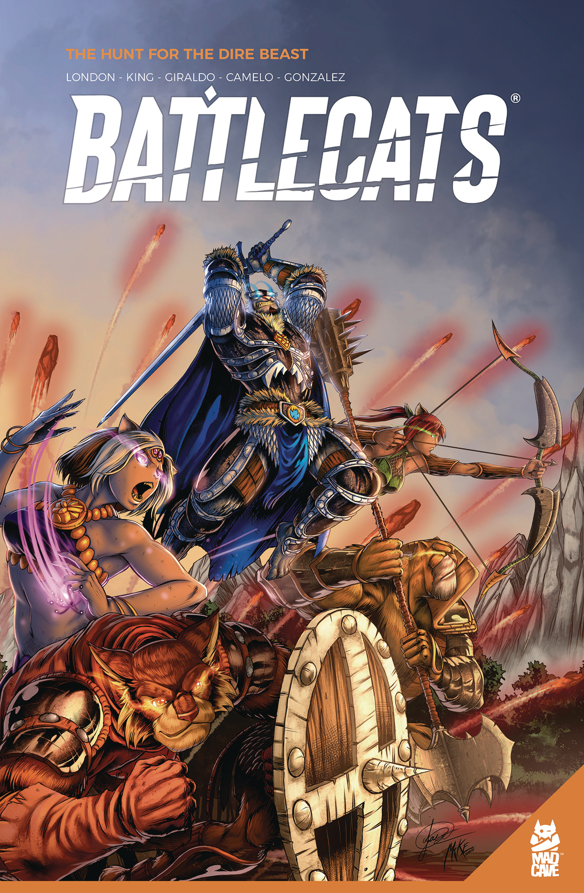 Battlecats Volume 1, The Hunt for the Dire Beast  is out now.