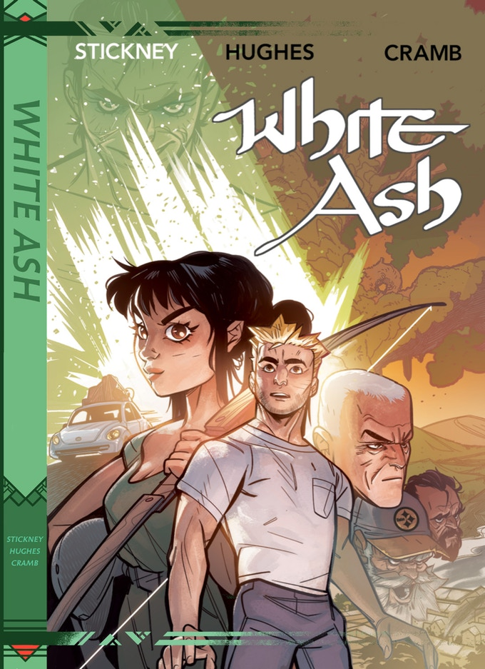 The  White Ash  hardcover is  available on Kickstarter now .