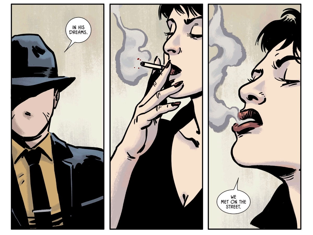 Batman #66  gives us The Question interrogating Catwoman.