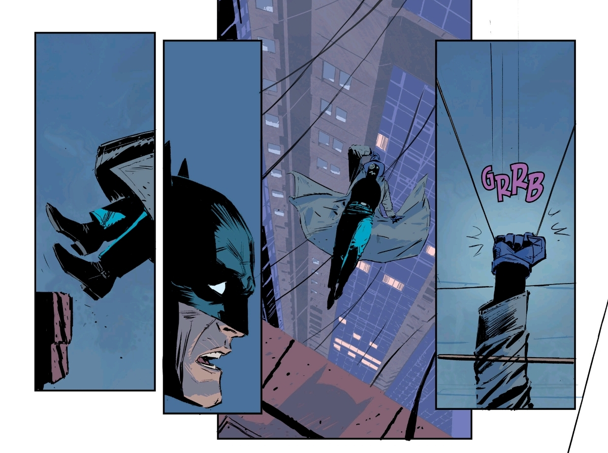 The issue-long chase sequence in  Batman #67  features some of the best purely visual storytelling all year.