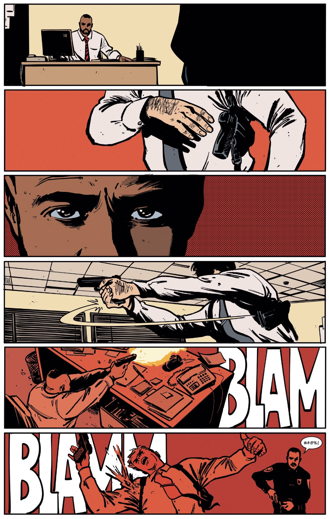 Daredevil #10  features a nigh-perfect synergy of lettering, artwork, and script.