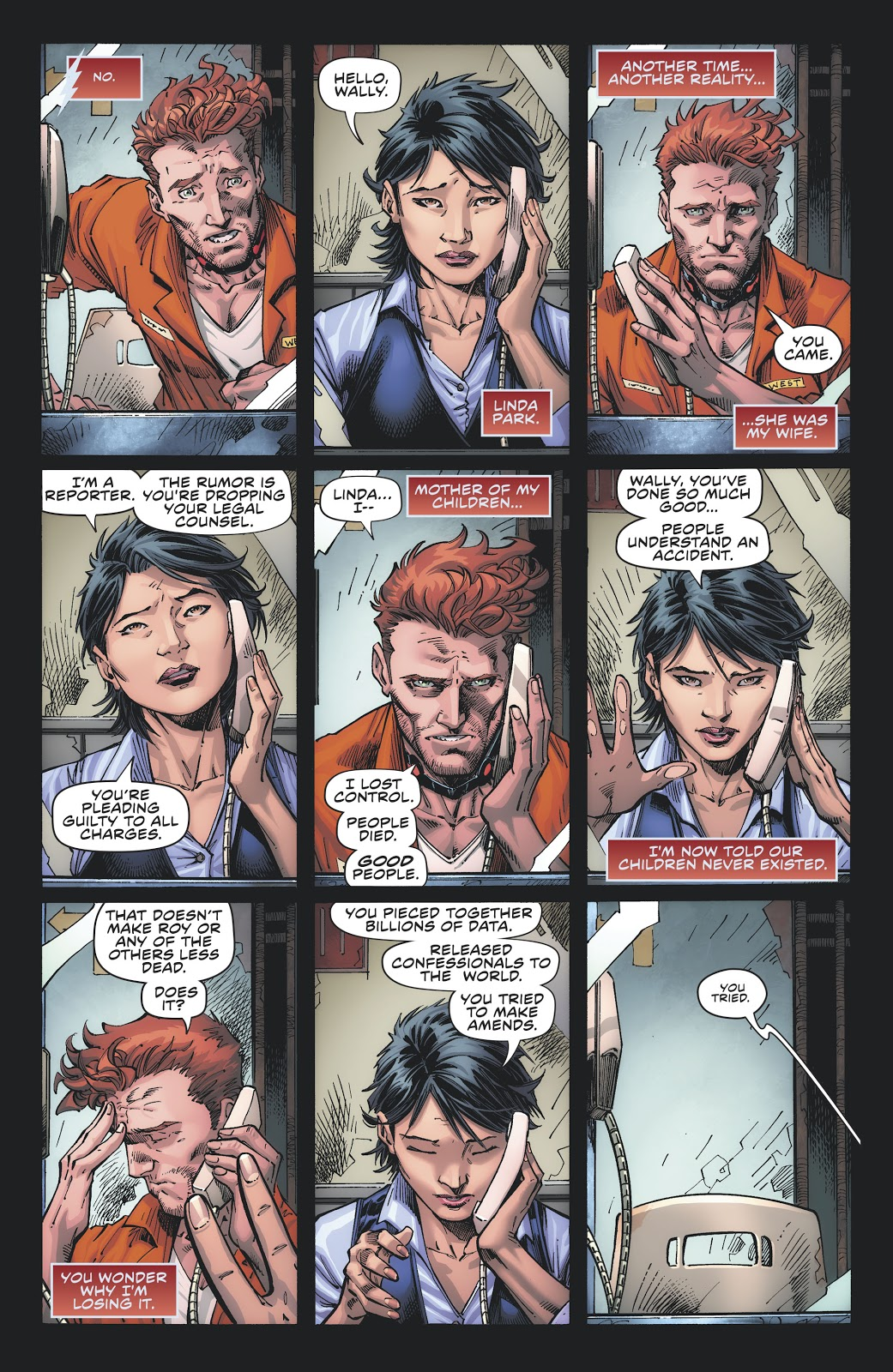 Wally West and Linda Park, from  Flash Forward #1 .