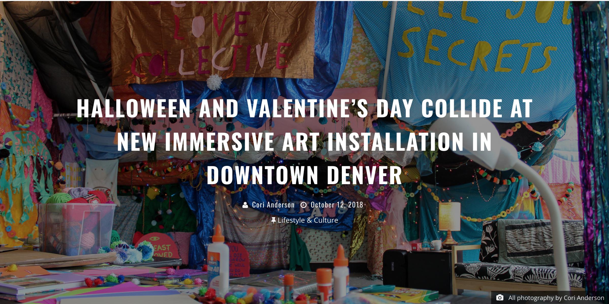 Halloween and Valentine's Day Collide at New Immersive Art Installation in Downtown Denver - https://303magazine.com/2018/10/secret-love-collective-understudy-denver/