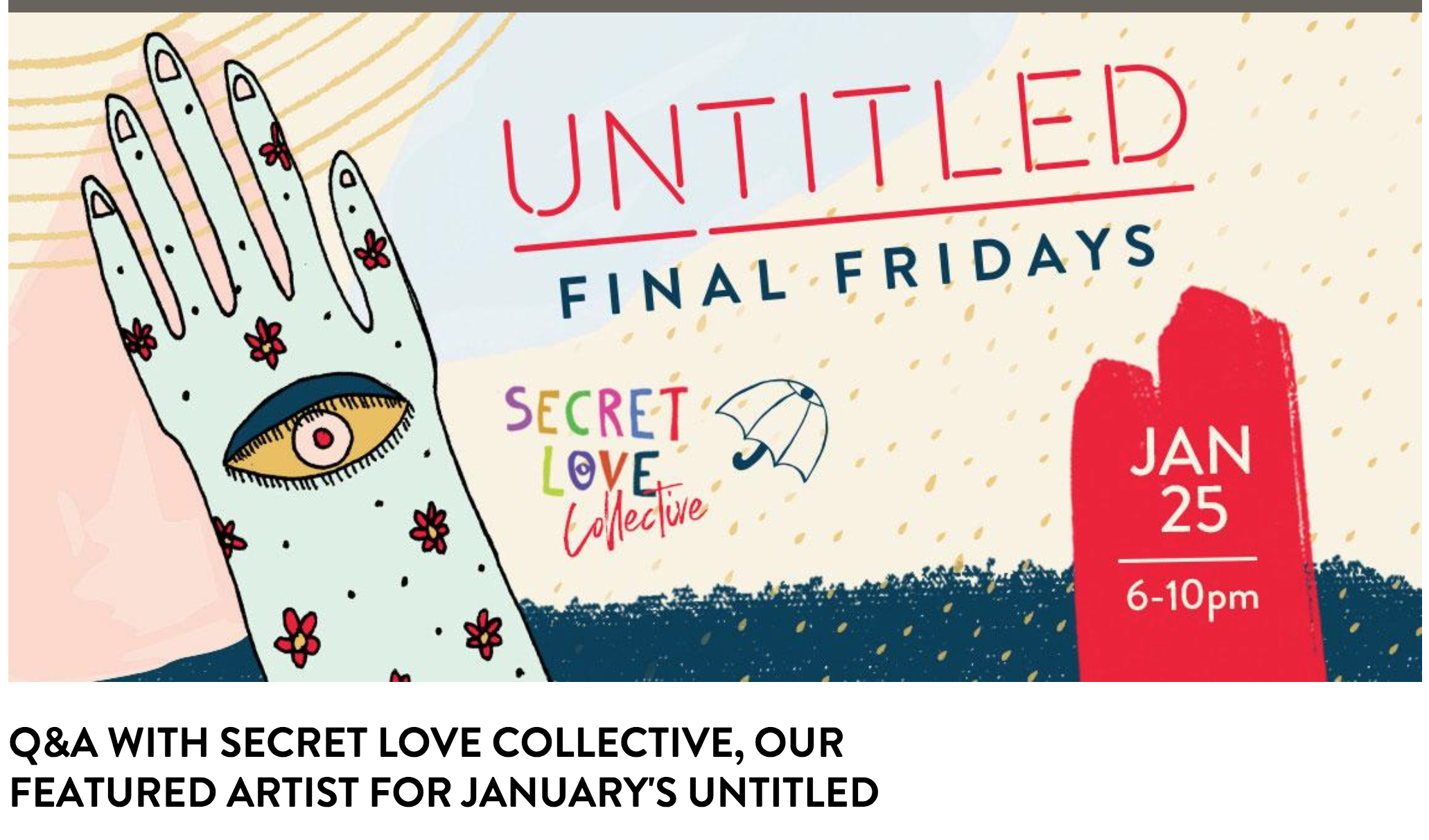 Q&A with Secret Love Collective, Our Featured Artist for January's Untitled  - https://denverartmuseum.org/article/q-and-secret-love-collective-our-featured-artist-januarys-untitled