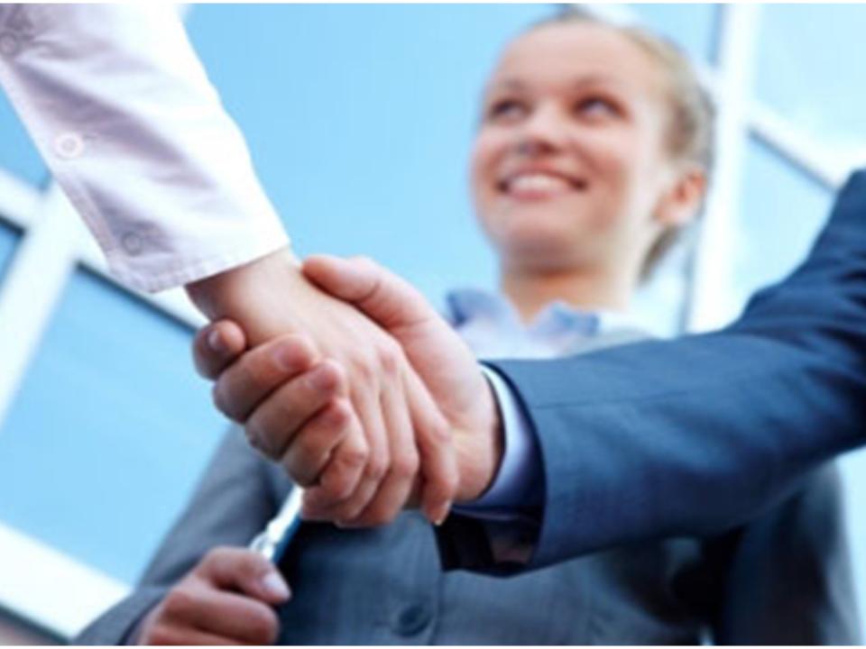 Handshake between two parties securing business contract