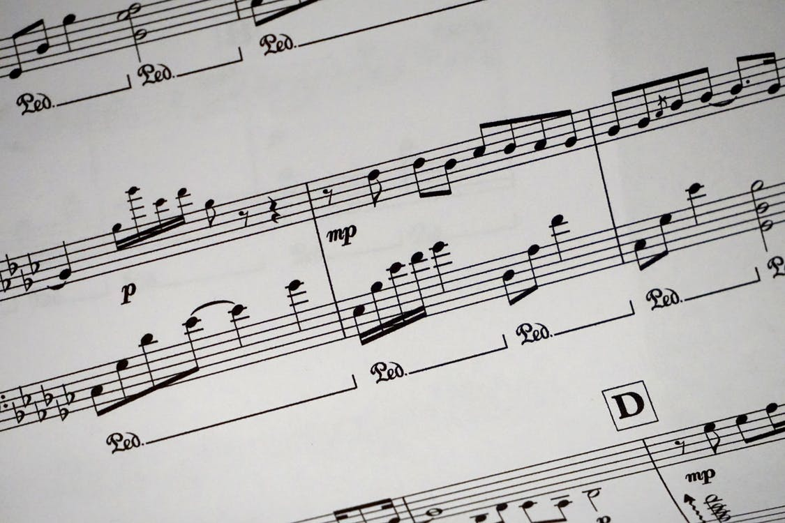 musical notes for a song