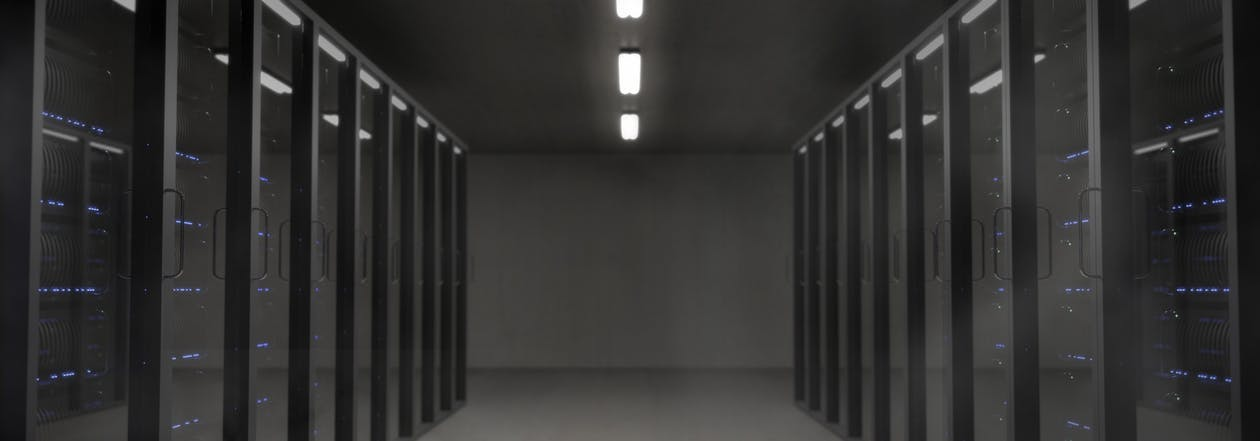 rows of computer servers in security vaults