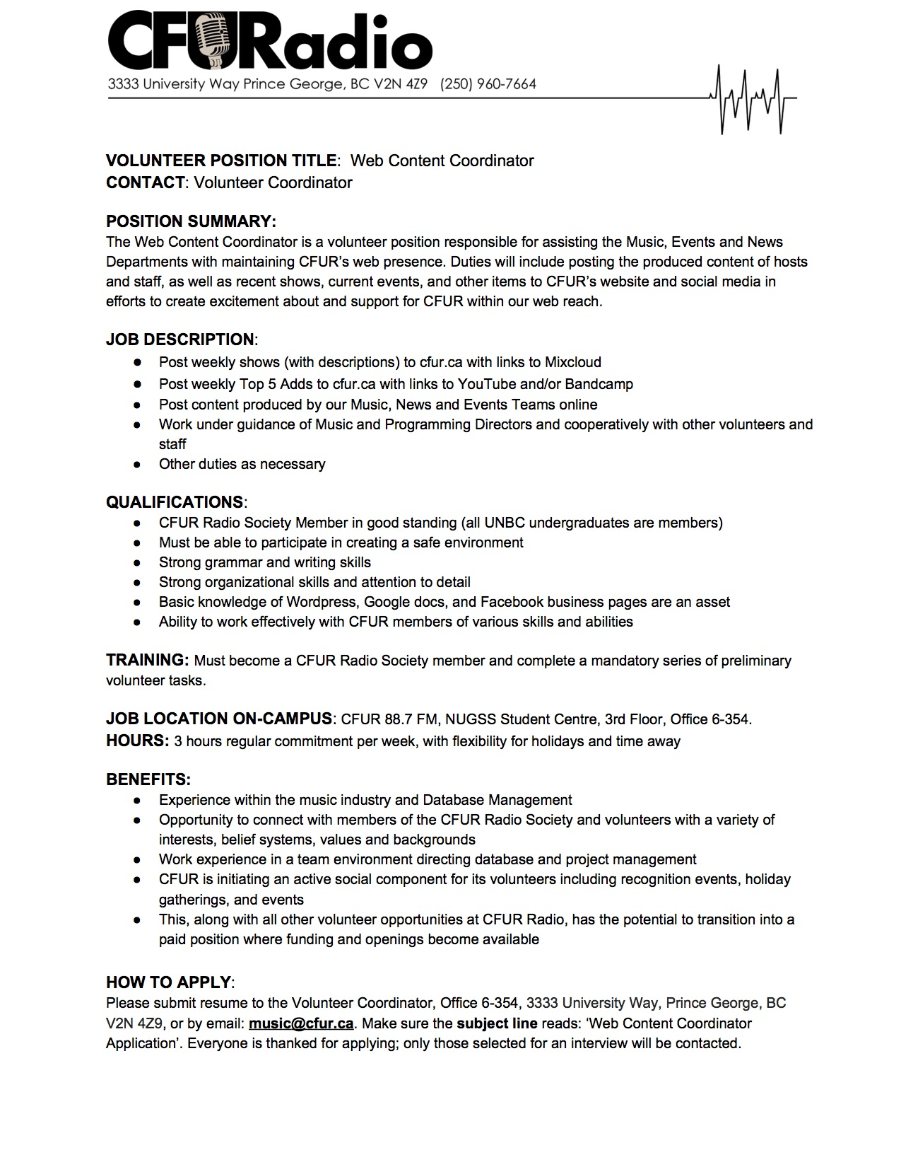 Web Content Coordinator