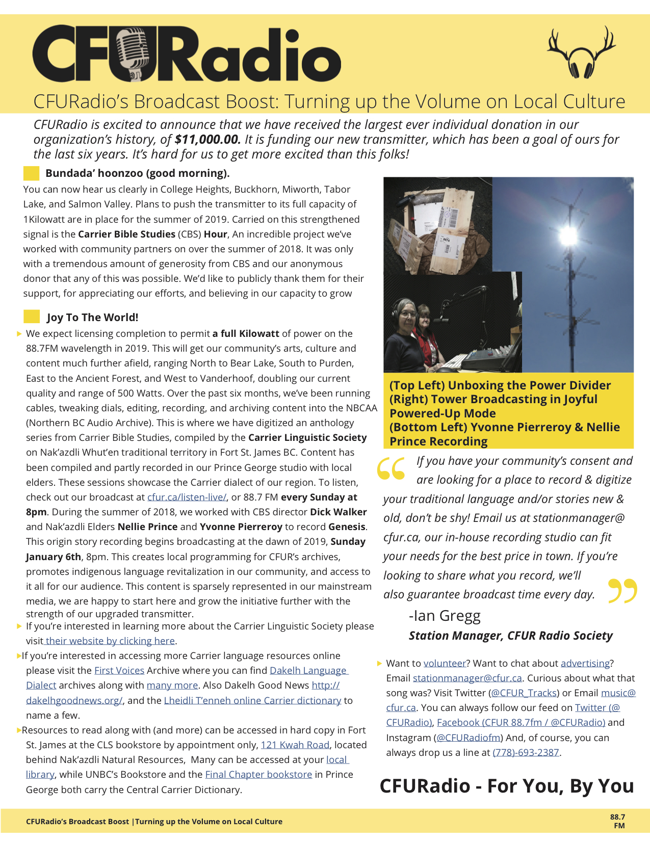 20181212 - CBS & Transmitter - CFUR Press Release 1.jpg