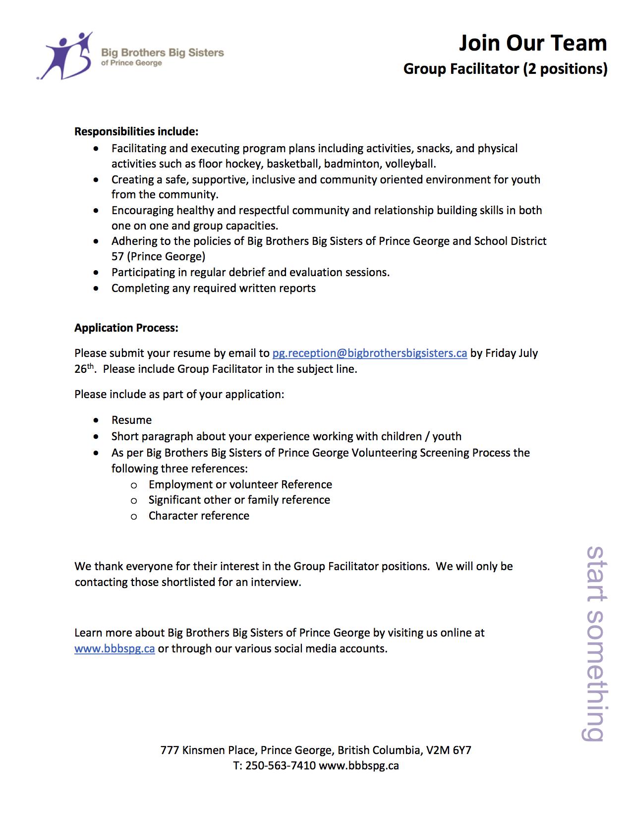 BBBS Job Posting