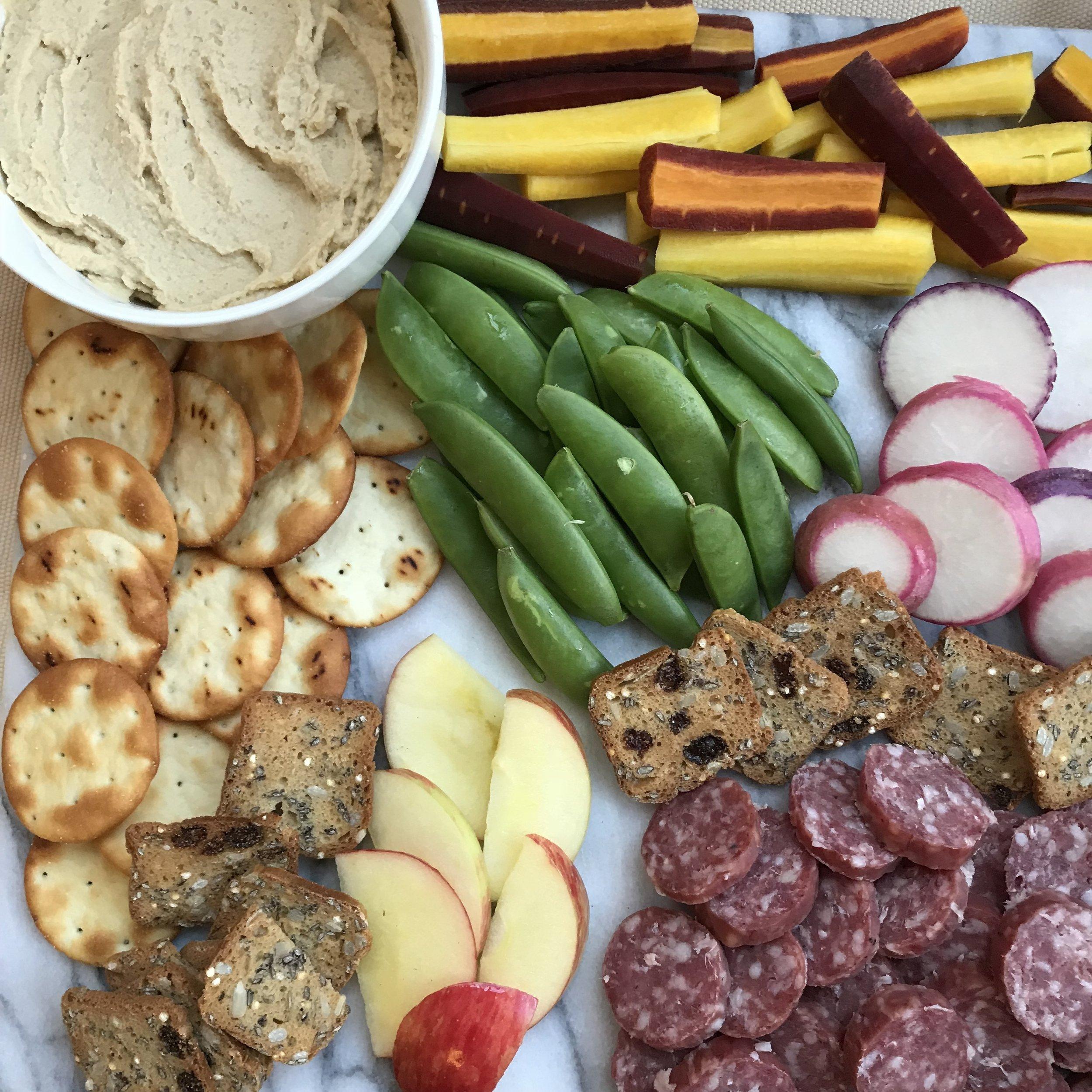 misfit wellness crudite and hummus