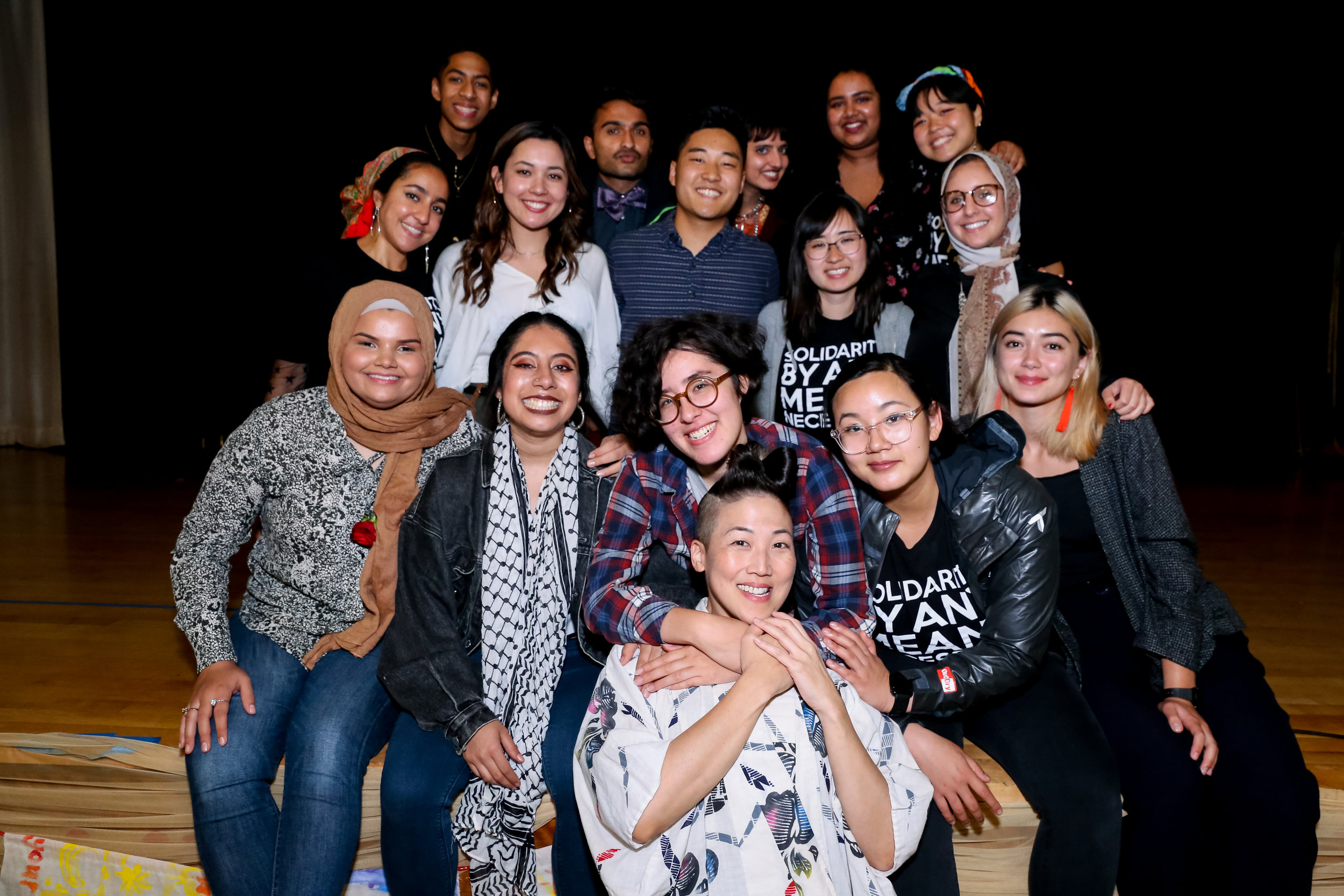Our 2019 Solidarity Arts Fellowship cohort at Vigilant Love's 2019 Bridging Communities Iftar.
