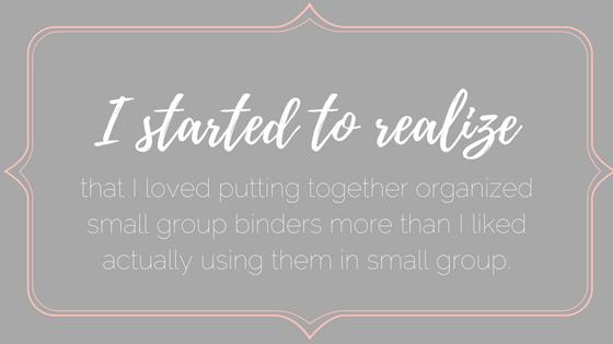 I loved organizing