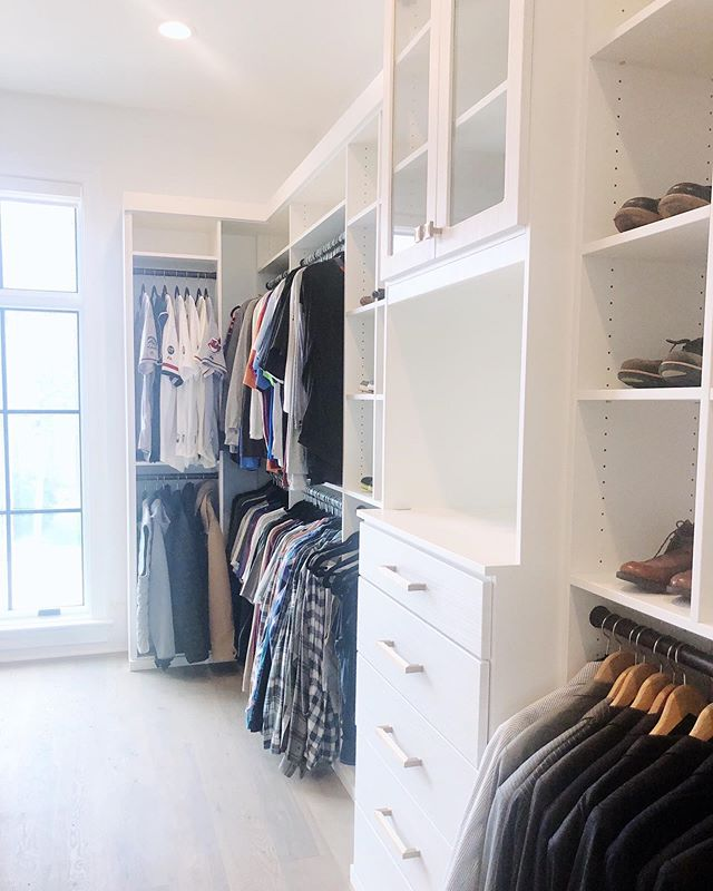 """This is how organizing men's closets usually goes for us: ⠀⠀⠀⠀⠀⠀⠀⠀⠀ Husband: """"Eh, you don't need to do my closet. It's fine!"""" ⠀⠀⠀⠀⠀⠀⠀⠀⠀ *We finish the wife's closet* ⠀⠀⠀⠀⠀⠀⠀⠀⠀ Husband: """"So... when are you doing mine?"""""""