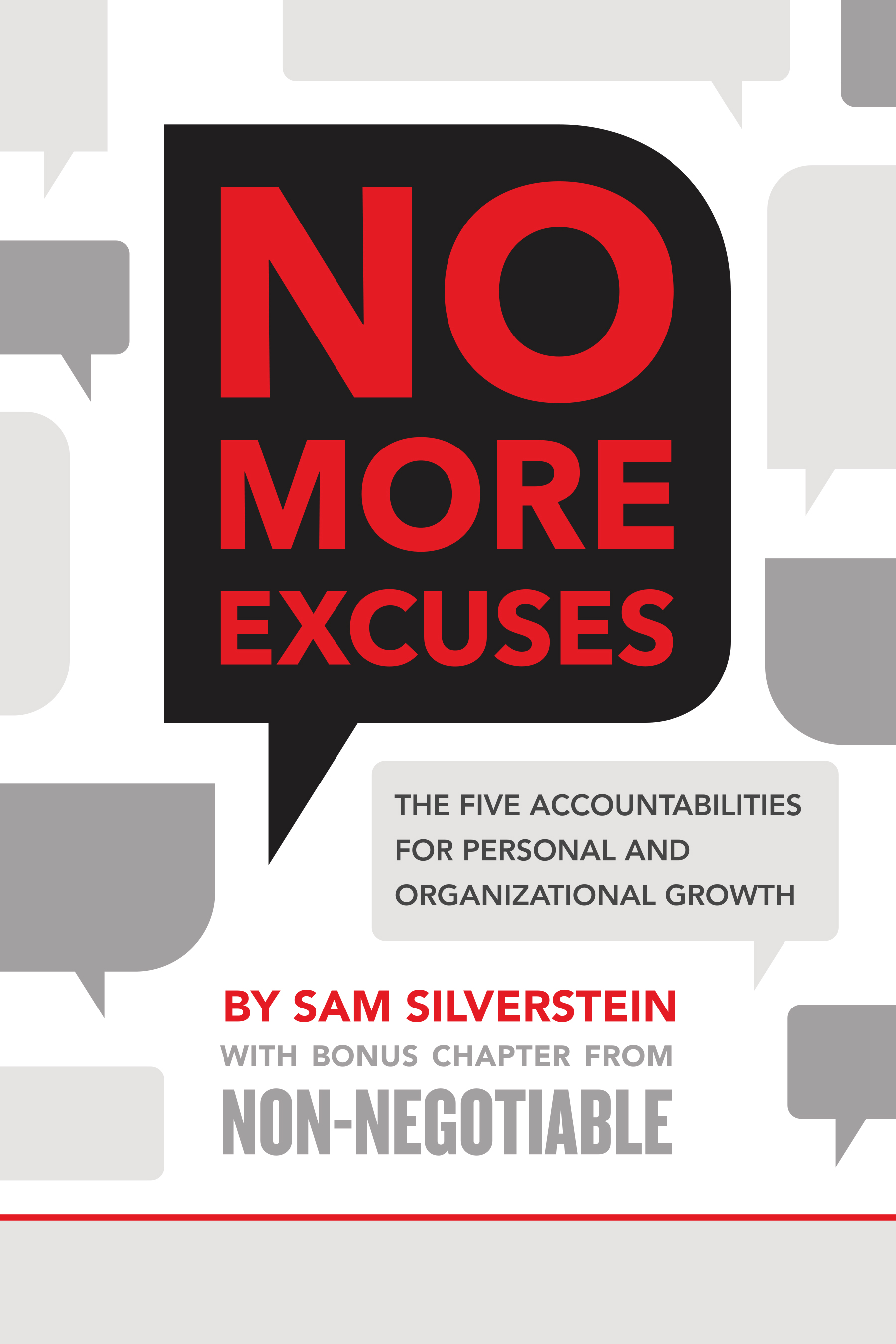 No More Excuses - By sam silverstein