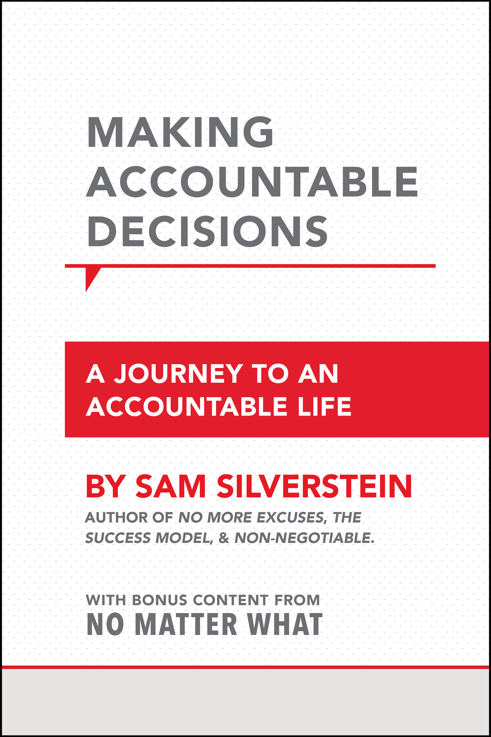 Making Accountable Decisions - By sam silverstein