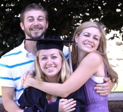 My brother and sister also went to Virginia Tech so we're quite the Hokie family now.