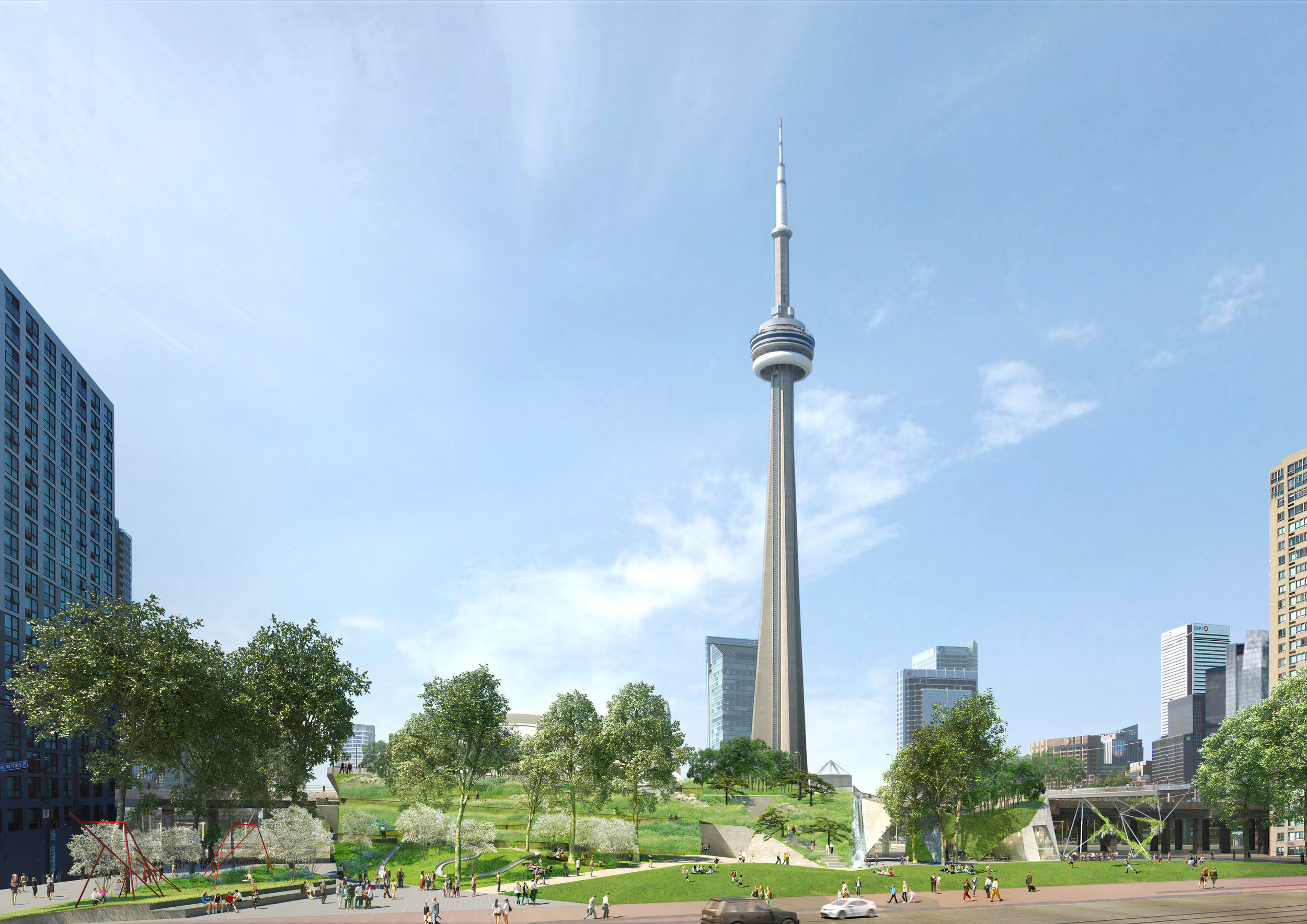 wHY ARCHITECTURE + BROOK McILROY + PHYTO TEAM WINS INTERNATIONAL DESIGN COMPETITION FOR REES PARK AT TORONTO WATERFRONT.