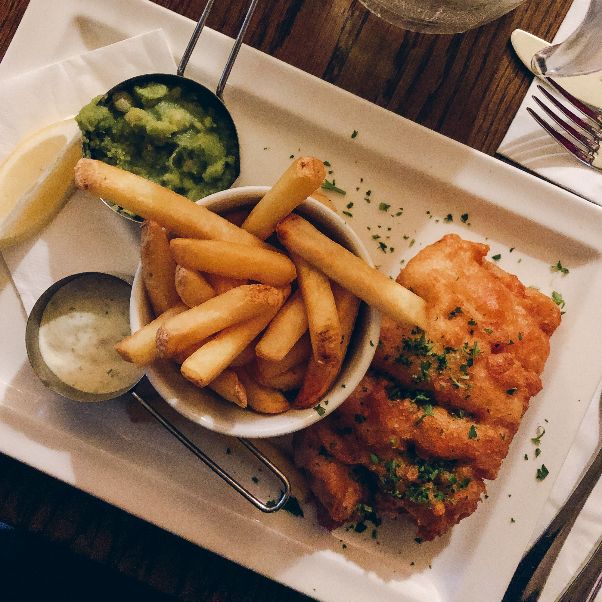 Fish and chips from the Abbey Tavern