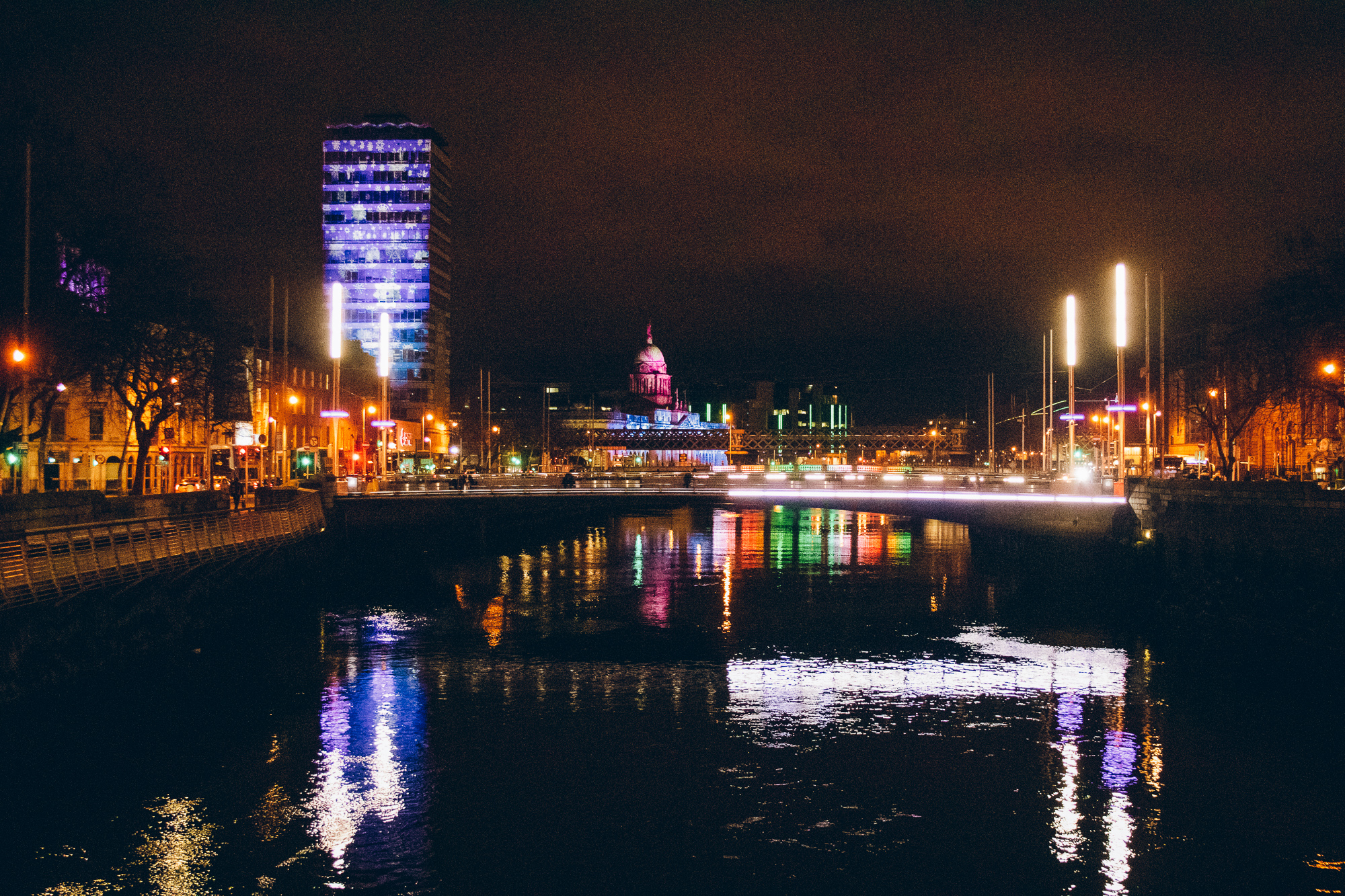 View of the Custom House by the River Liffey