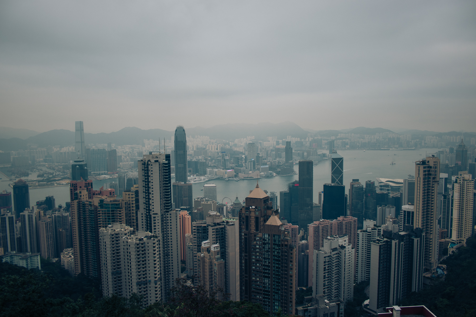 And the Hong Kong skyline from behind it - up in The Peak.