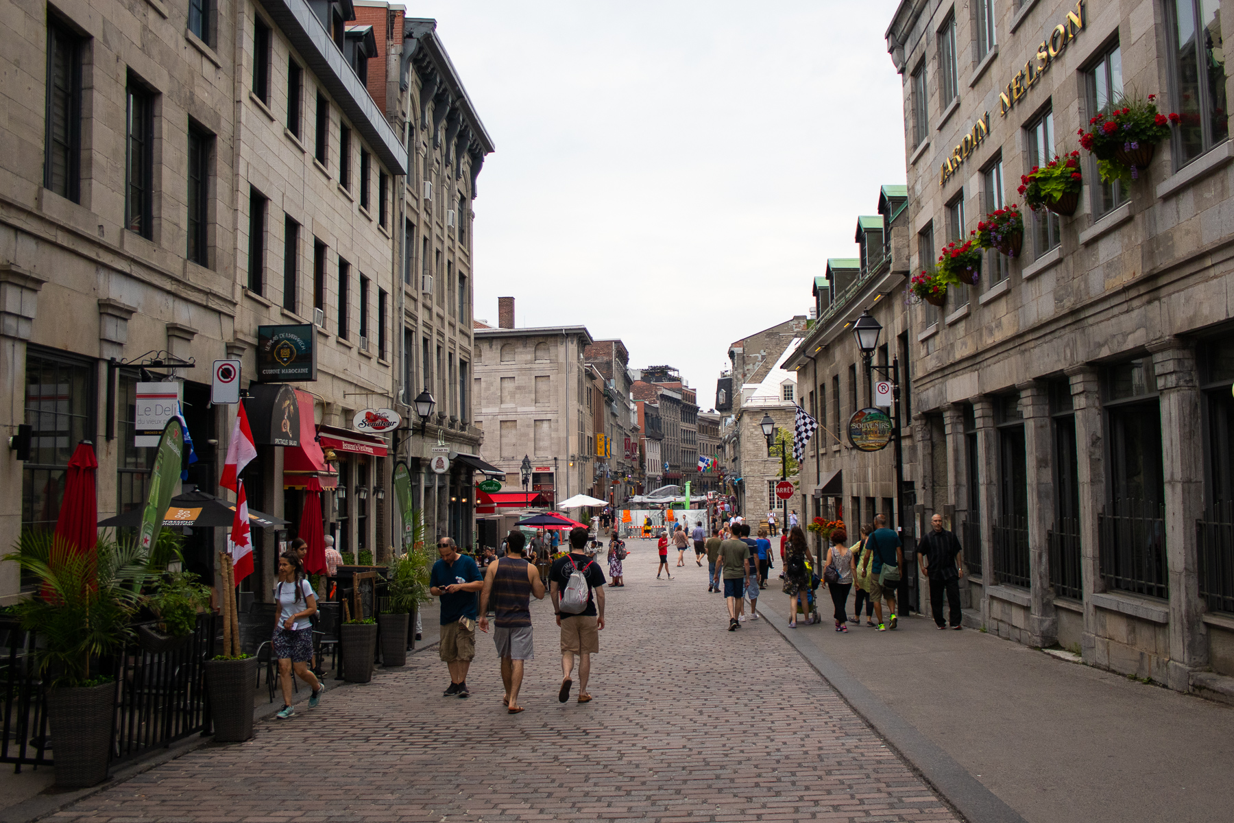 Wandering around Old Montreal.