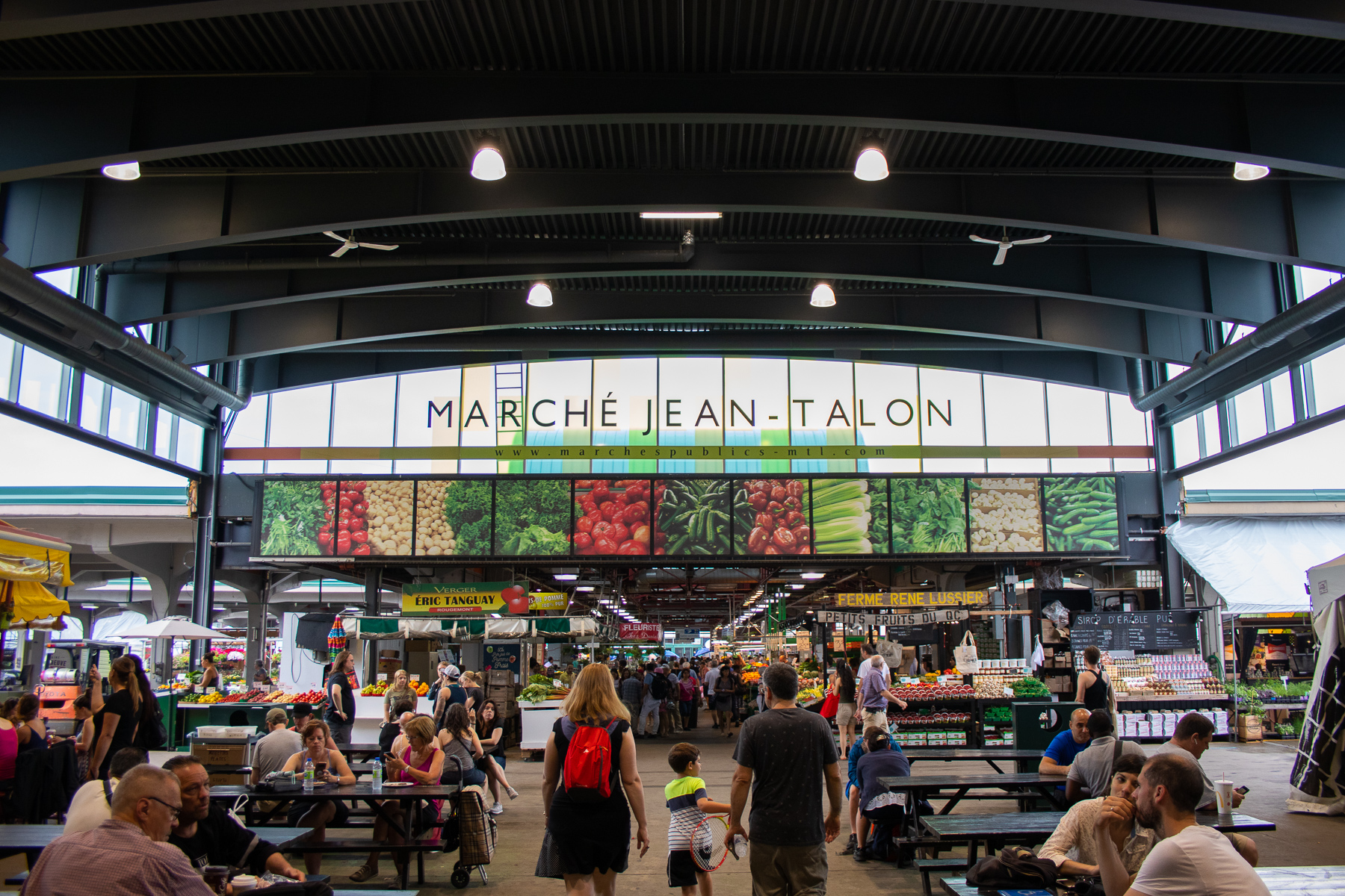 The Jean Talon market aka Canadian Pike's Place Market.