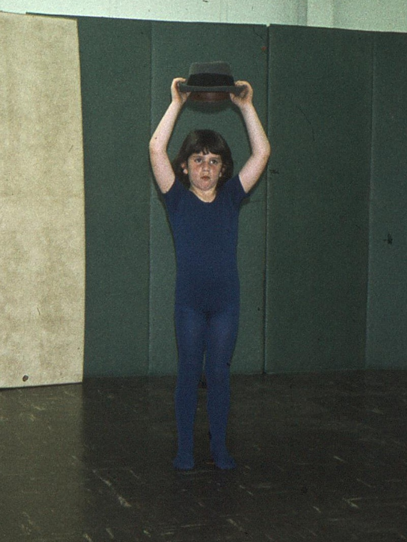 Me showing tremendous focus in my early dancing days.