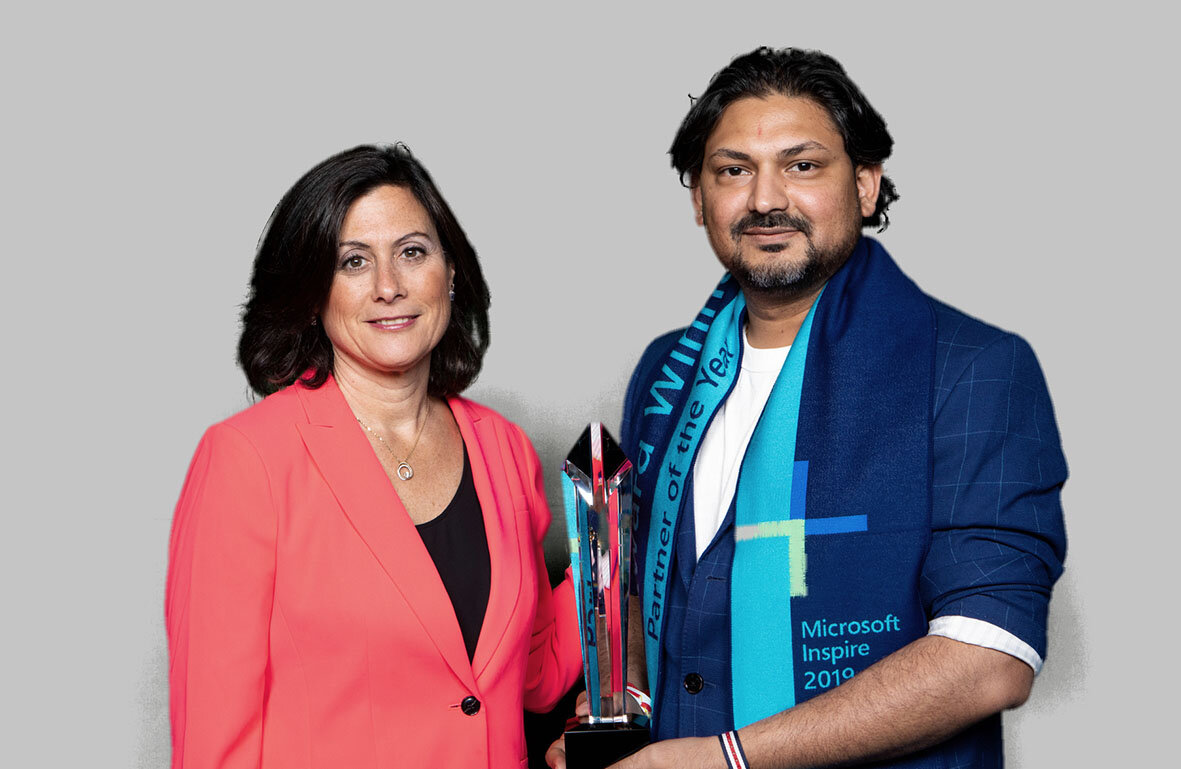 Gavriella Schuster - Corporate VP, One Commercial Partner Organisation, Microsoft and Nilesh Makwana - CEO of illuminance Solutions at the INSPIRE Conference by Microsoft in July 2019.