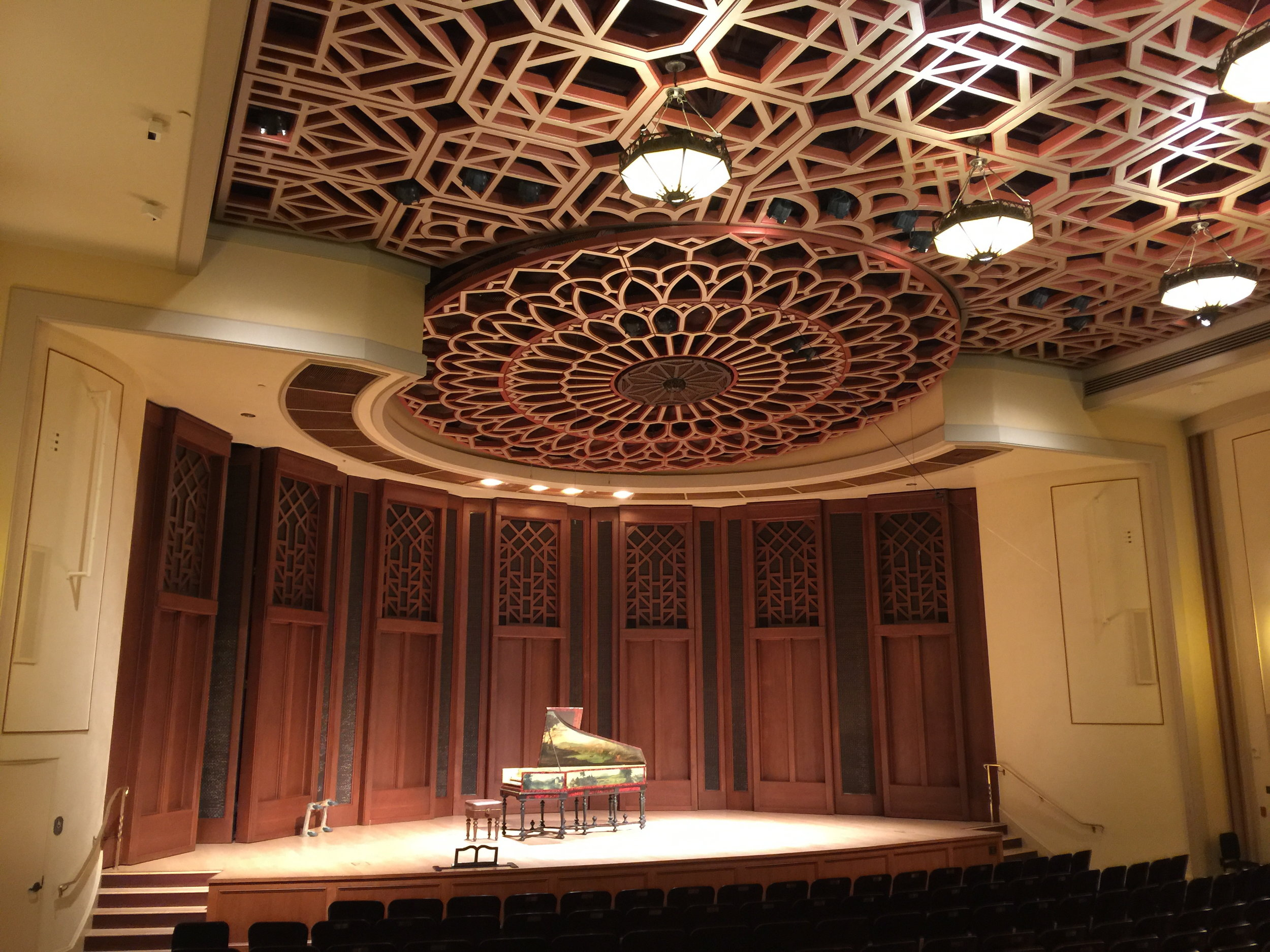 before a performance of Bach's Goldberg Variations, presented by Camerata Pacifica, at Hahn Hall, Music Academy of the West, Santa Barbara, CA