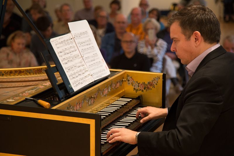 A series of 5 all-Bach recitals at Bay Chamber Concerts, Rockport, Maine. Photo by Spencer Worthley.