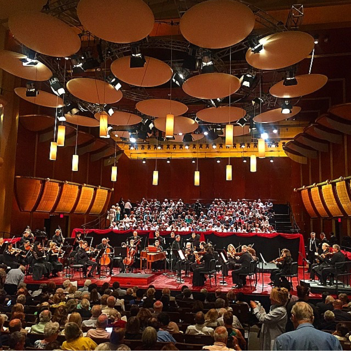 Mostly Mozart Festival Orchestra, Louis Langrée (music director), performing Mozart Symphony No. 1, at David Geffen Hall, Lincoln Center, New York
