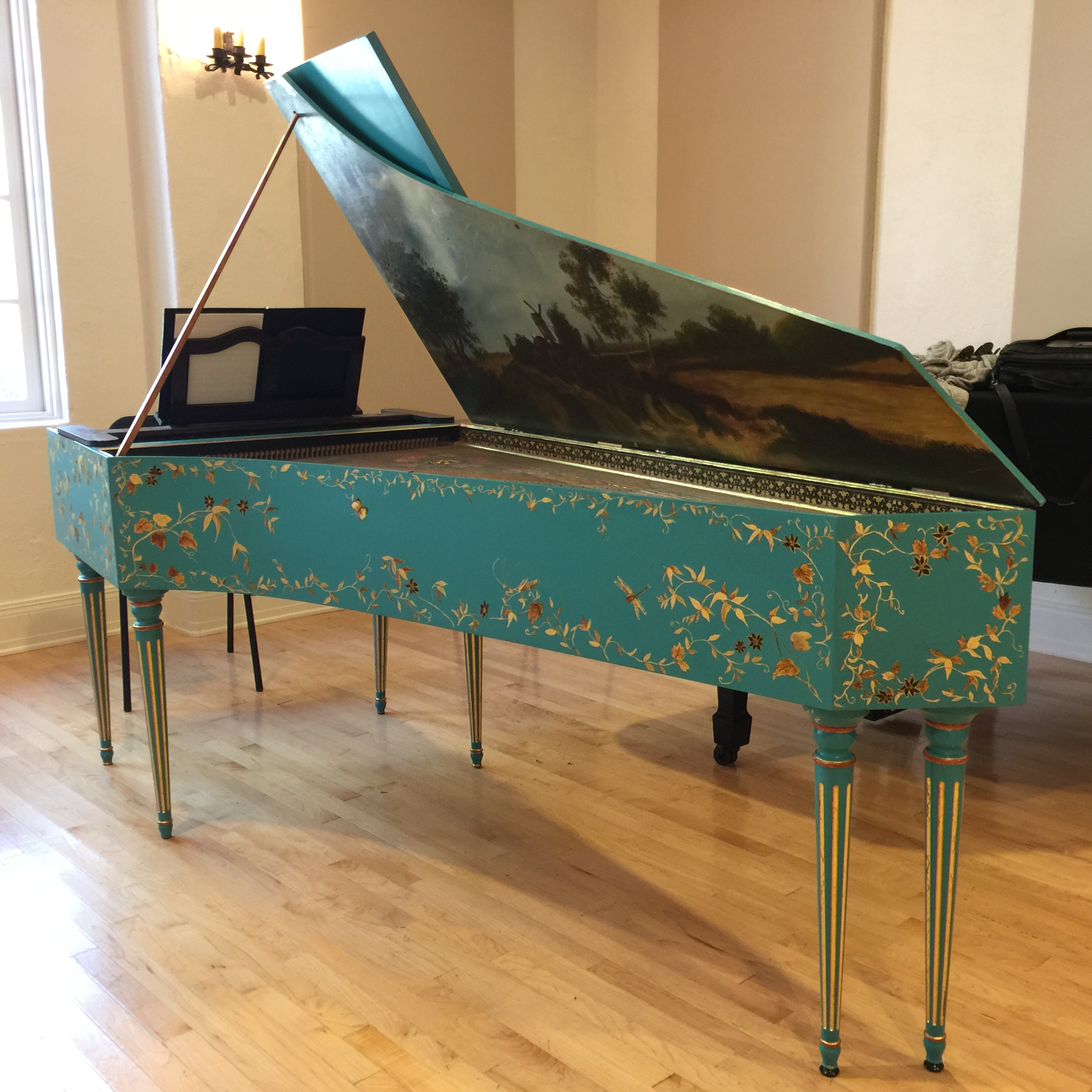 French double harpsichord by Curtis Berak, Los Angeles
