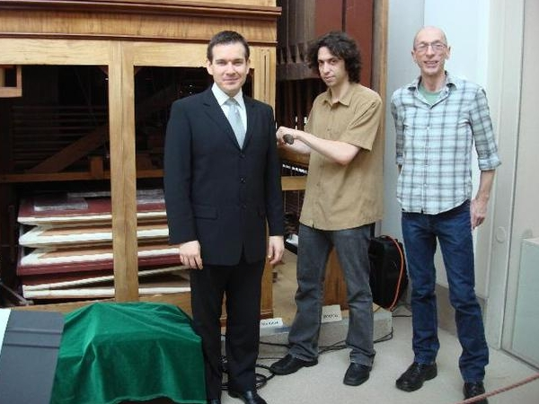 with Michael Katz and museum technician Joe Peknik