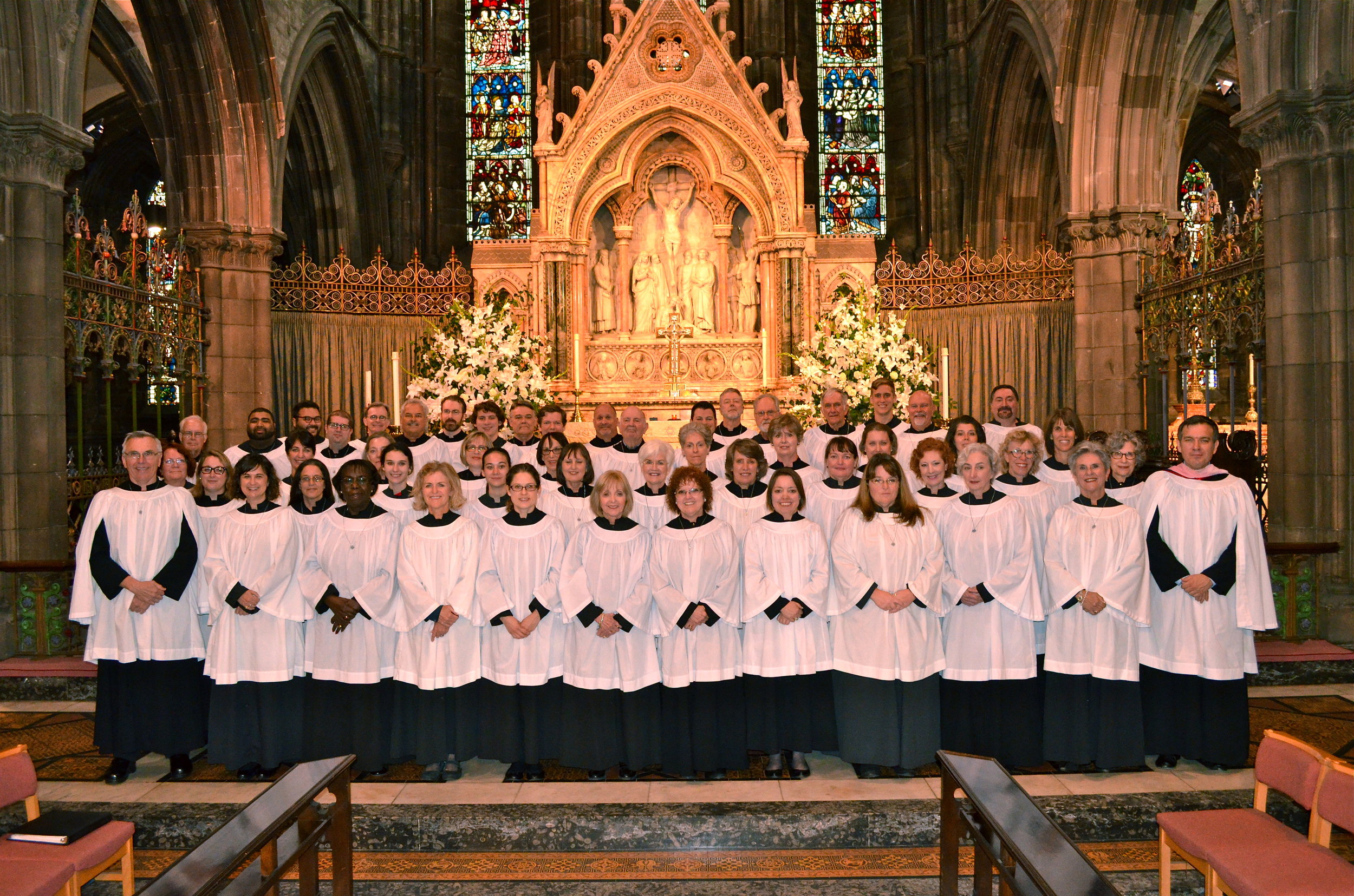 St. Paul's Choir, in residence at St. Mary's Episcopal Cathedral, Edinburgh, Scotland.
