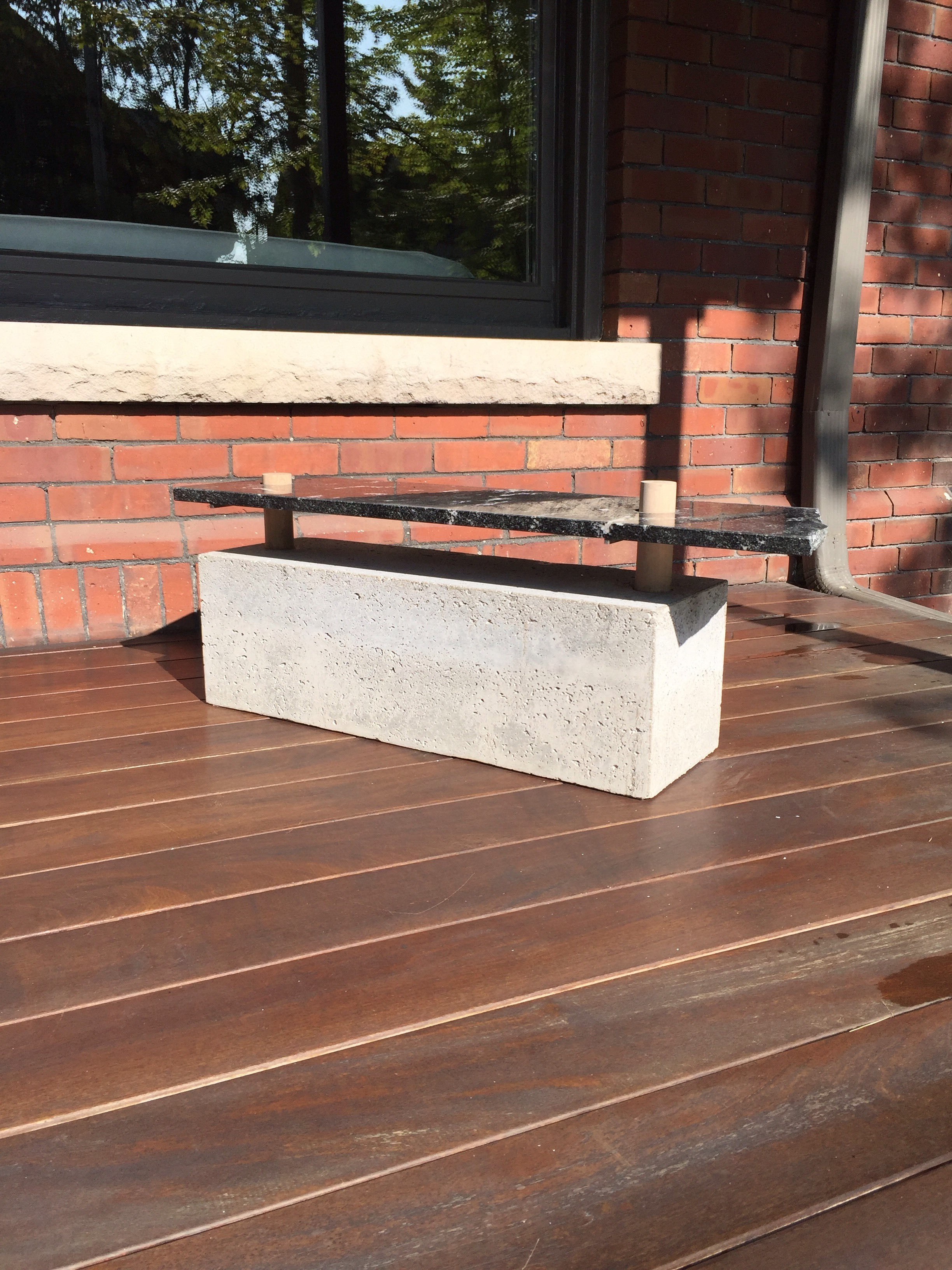 Concrete bench - outdoor furniture