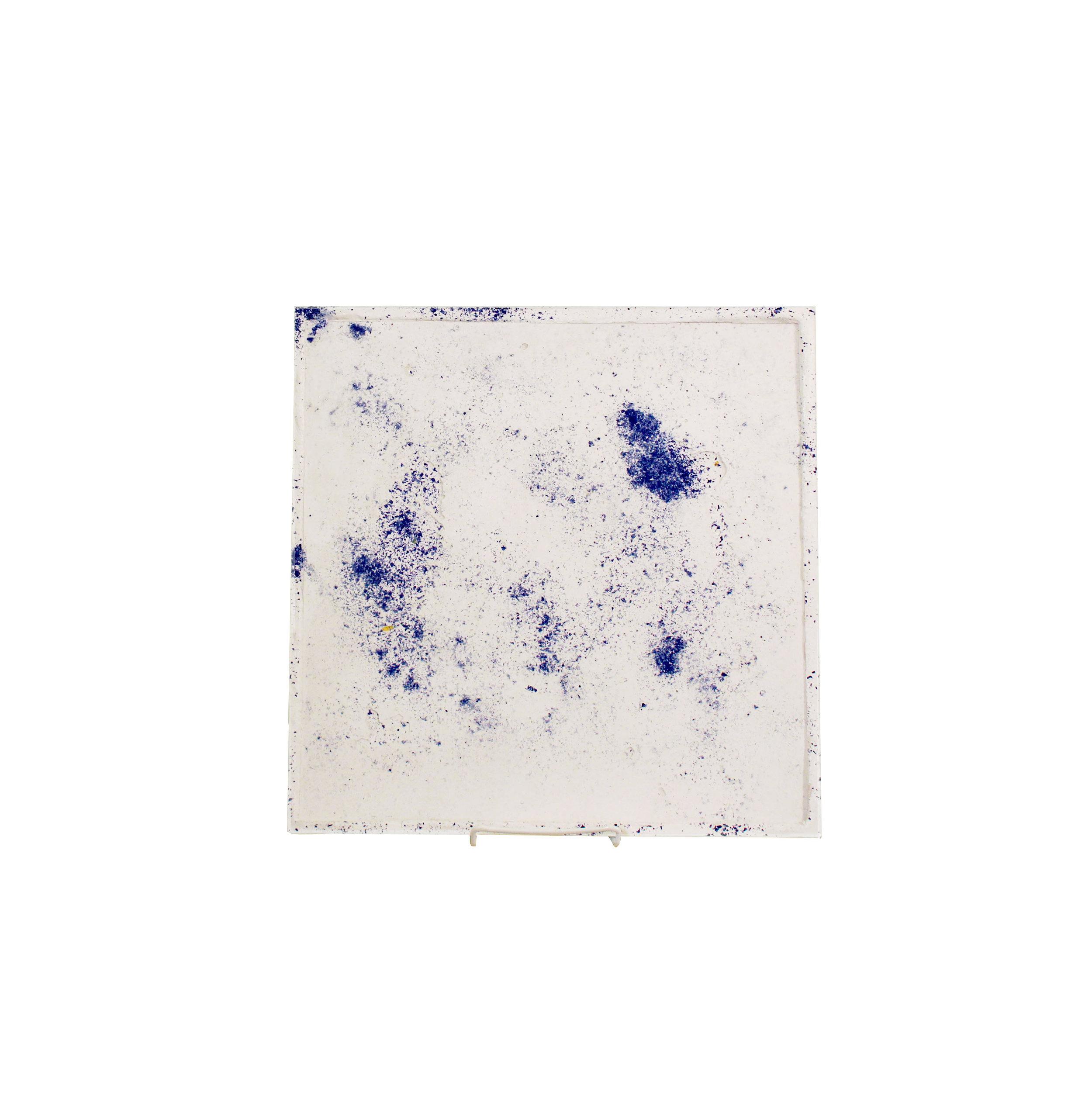 Blue concrete platter