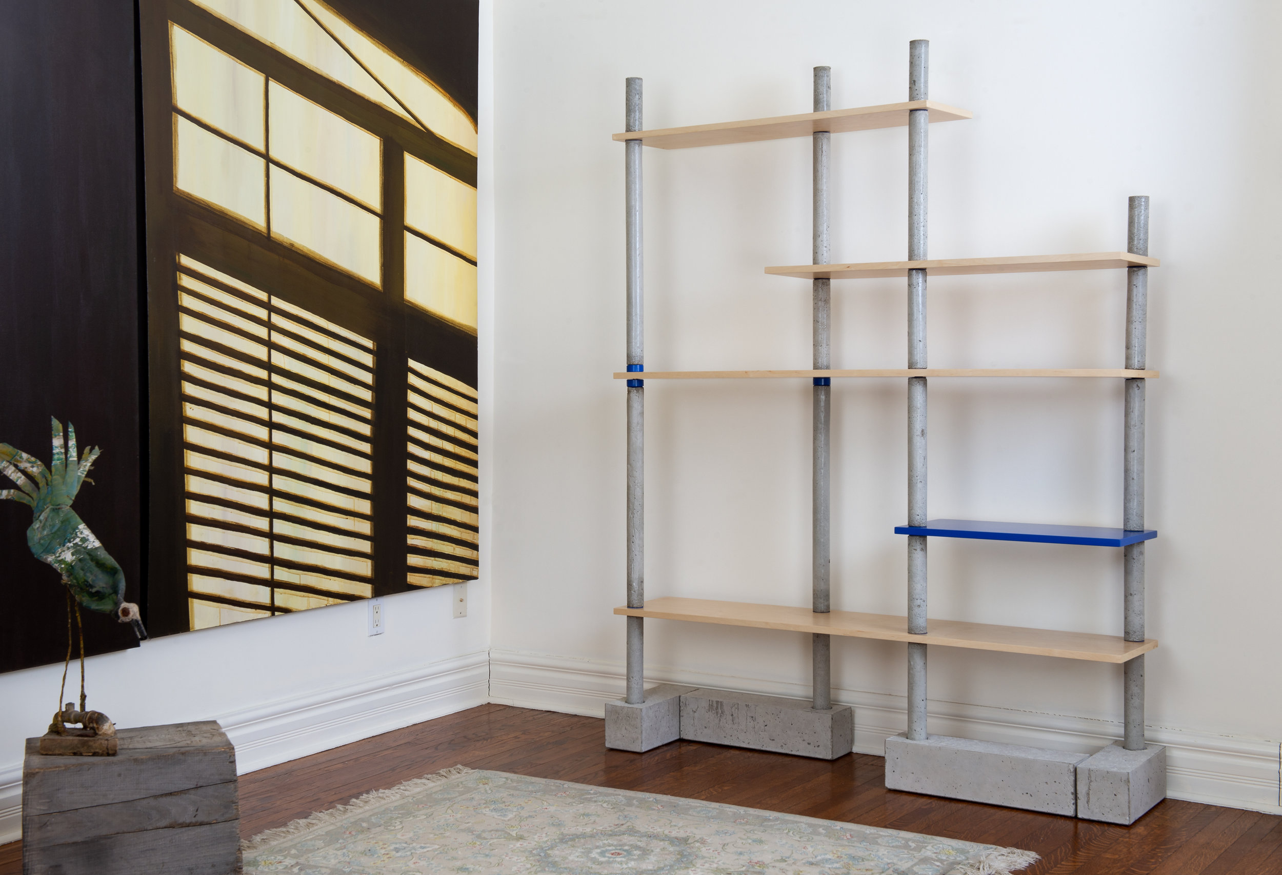 LALAYA Design - BIM BOM Bookshelf - concrete-maple-bookcase-collectible design