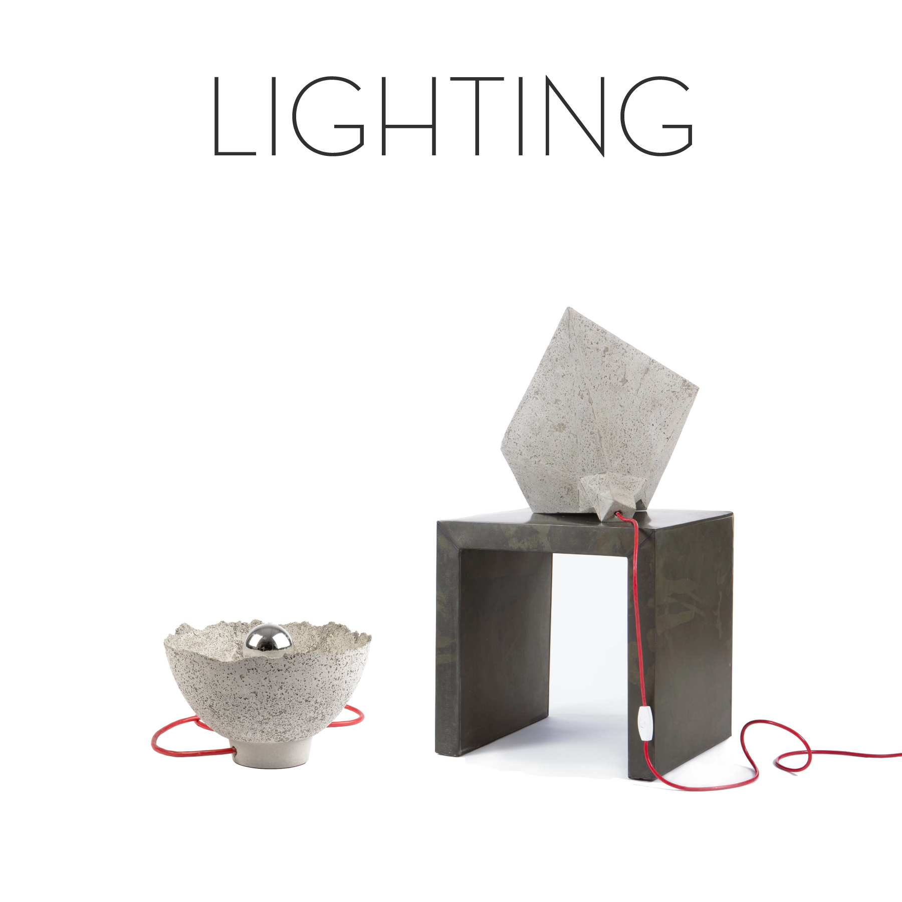 Concrete lamps, fine design, designer table lamps