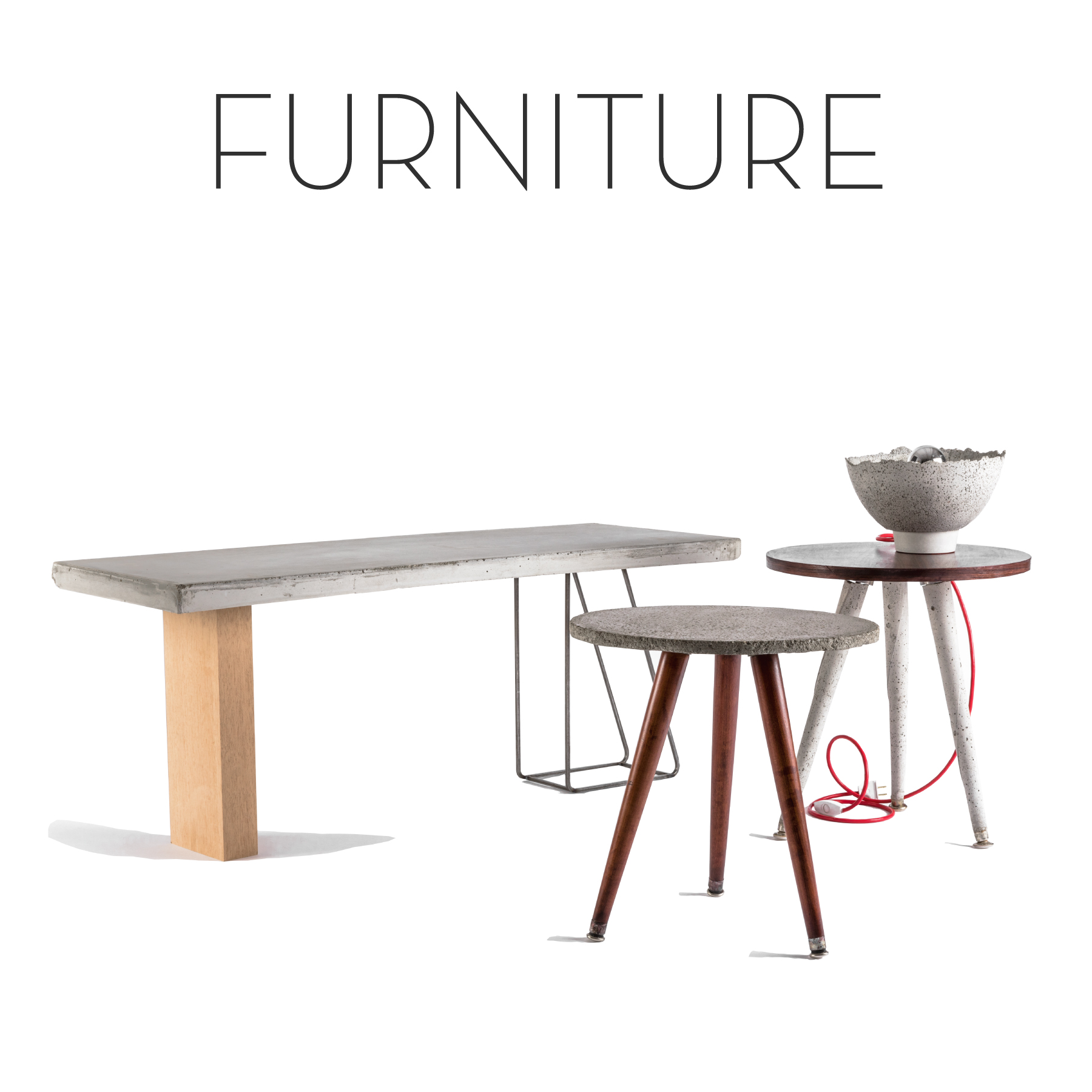 Fine furniture collection, collectible design, bespoke tables, benches, bookcases and more