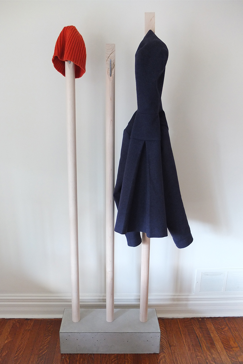 Designer-minmalist-coat-rack-concrete-maple